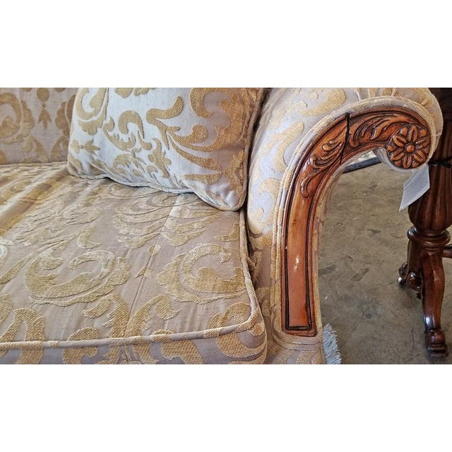 PRESENTING a GORGEOUS early 19th Century Chippendale Style Camel Back Sofa.....possibly made in Louisiana. From circa 1820...