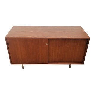 Vintage Florence Knoll Walnut Credenza For Sale