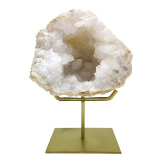 Geode on Brass Stand For Sale