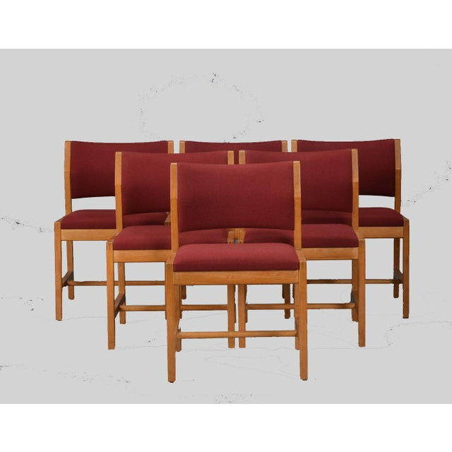 Wood Borge Mogensen Model 3241 Dining Chairs, 1970s - Set of 6 For Sale - Image 7 of 7