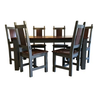 Rustic Style Dining Set For Sale