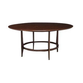 Henredon Dark Walnut Finished Toulouse Dining Table For Sale