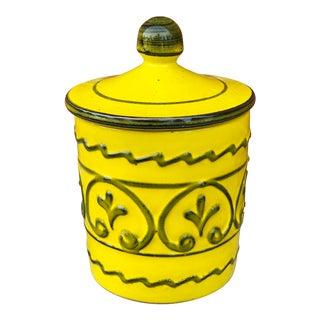Italian Mid-Century Ceramic Lidded Canister For Sale