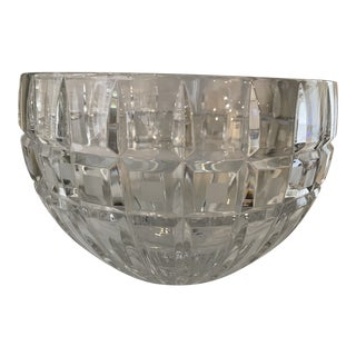 """20th Century Waterford """"Quadrata"""" Cut Crystal Round Serving Bowl For Sale"""