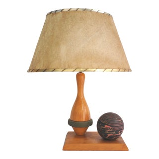 Vintage Duck Pin Bowling Table Lamp For Sale