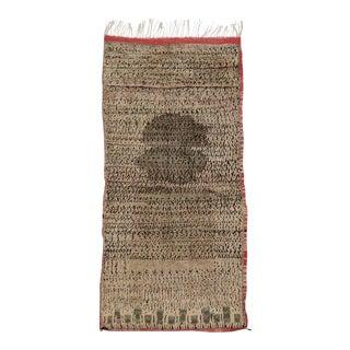 Mid-Century Modern Vintage Berber Moroccan Rug For Sale