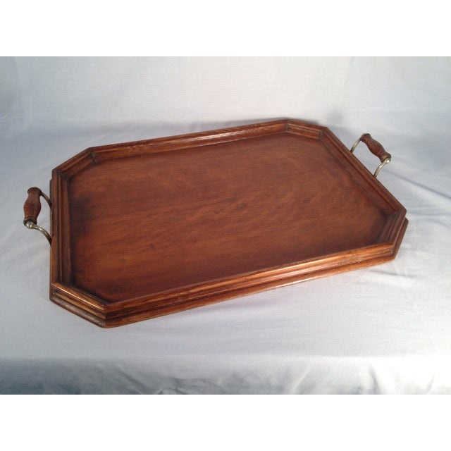 English Wood Serving Tray - Image 2 of 3