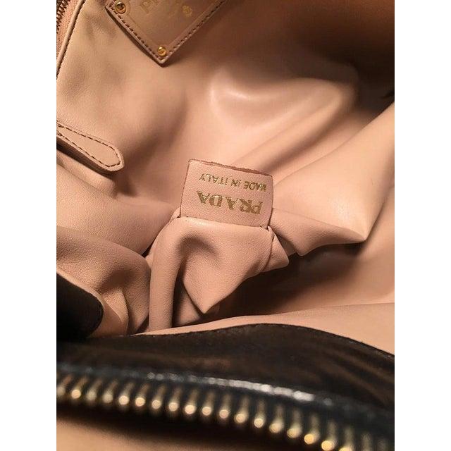 Prada Black Leather Saffiano Top Handle Tote Shoulder Bag For Sale - Image 9 of 11