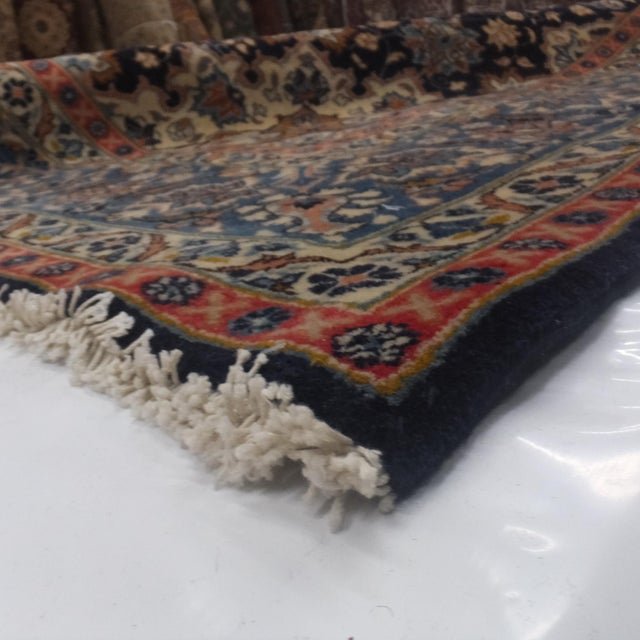 "Leon Banilivi Navy Persian Kashan Carpet - 9'8"" X 12'6"" - Image 6 of 6"
