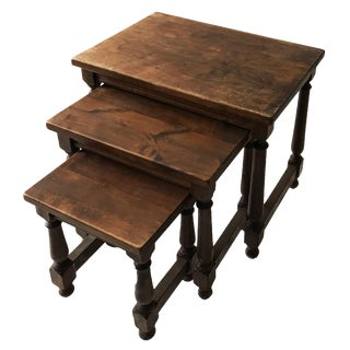 Vintage Medieval Style Nesting Tables - Set of 3
