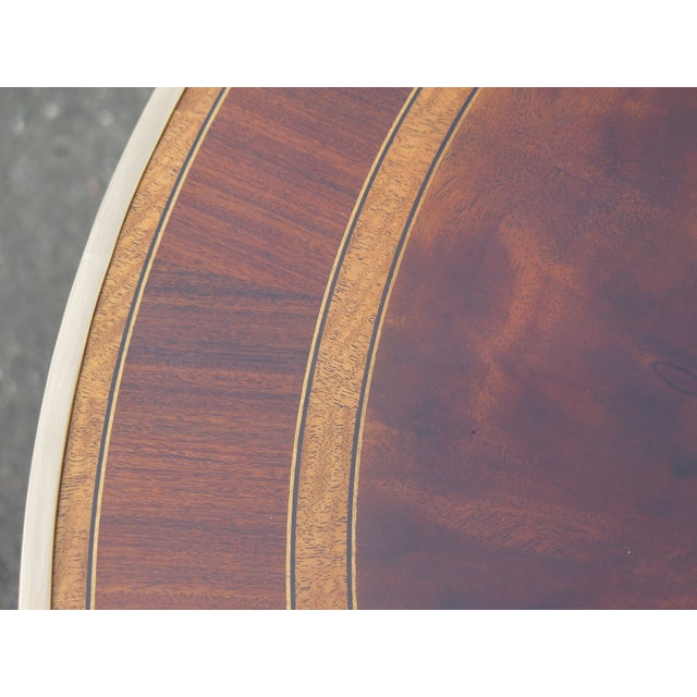 Traditional Theodore Alexander Althorp Round Mahogany Occasional Table For Sale - Image 9 of 11