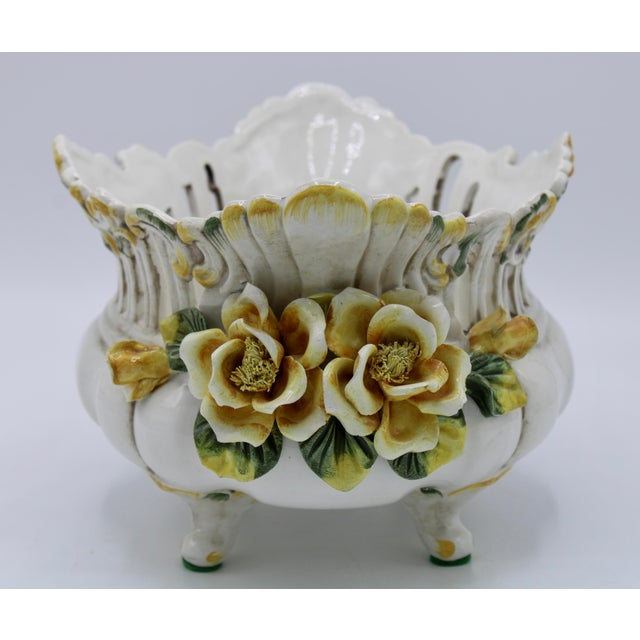 1970s Italian Ceramic Footed Jardiniere For Sale - Image 5 of 13