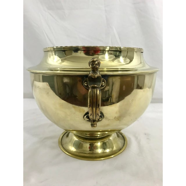 English 19th Century Brass Cache Pot For Sale - Image 4 of 6