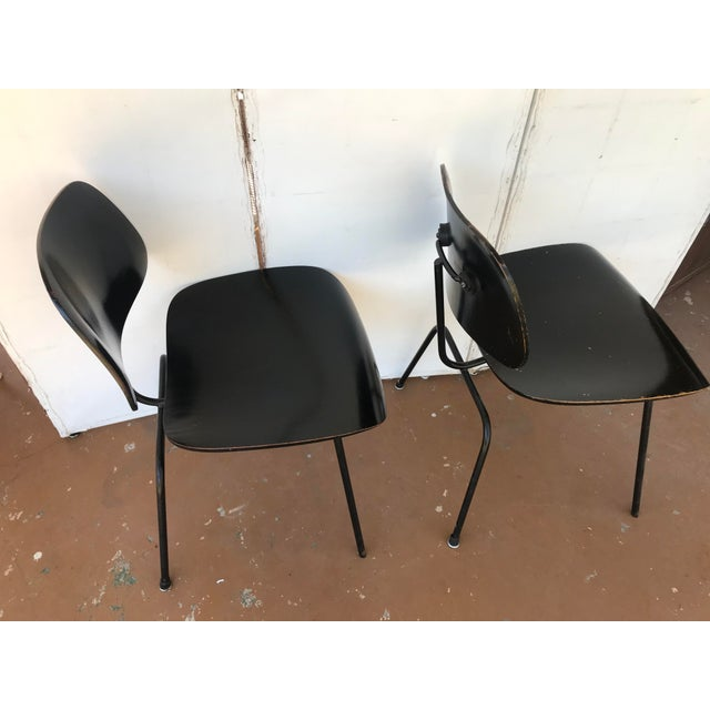1950s 1950s Eames Ebony Plywood Dcm Side Chair - a Pair For Sale - Image 5 of 7