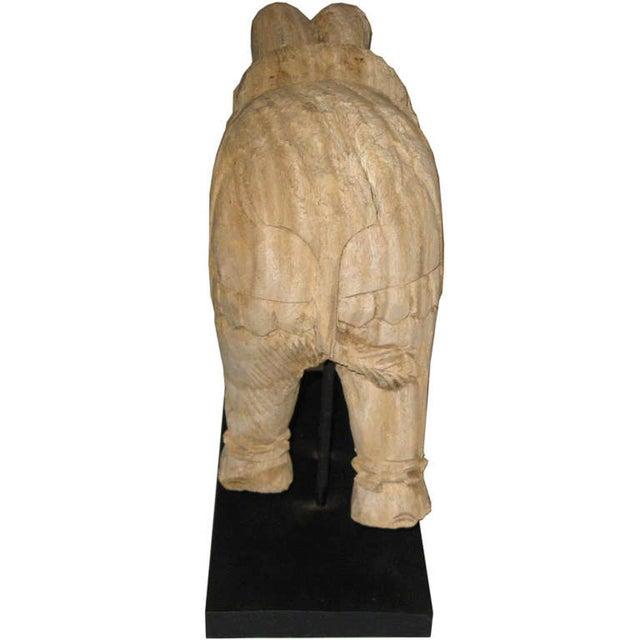 Thai Carved Wood Elephant - Image 6 of 6