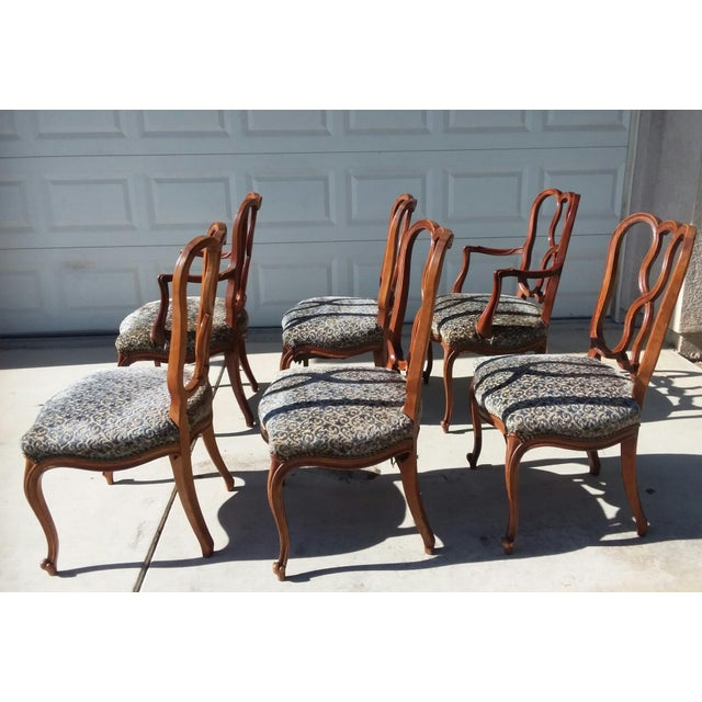 Early 20th Century Early 20th Century Vintage Louis XV French Ribbon Back Chairs - Set of 6 For Sale - Image 5 of 9