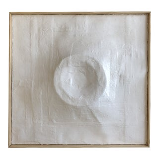 'Caldera' Minimalist Plaster Painting For Sale