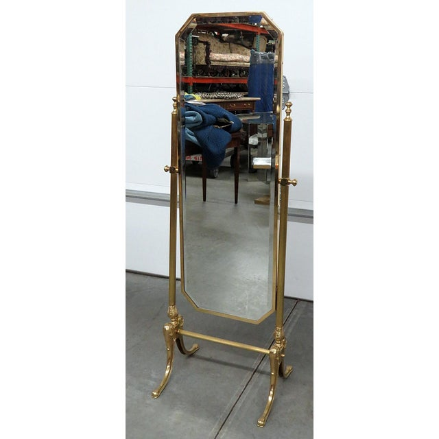 Hollywood Regency Style Cheval Mirror For Sale - Image 9 of 9
