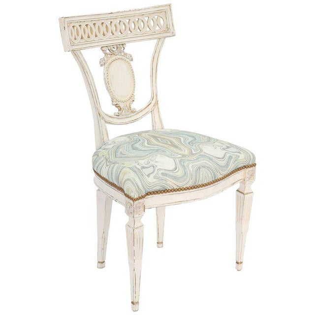 White Single Painted Italian Classical Style Side Chair For Sale - Image 8 of 8