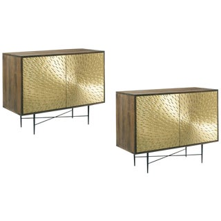Contemporary Barrel Living Room Cornell Chests - a Pair