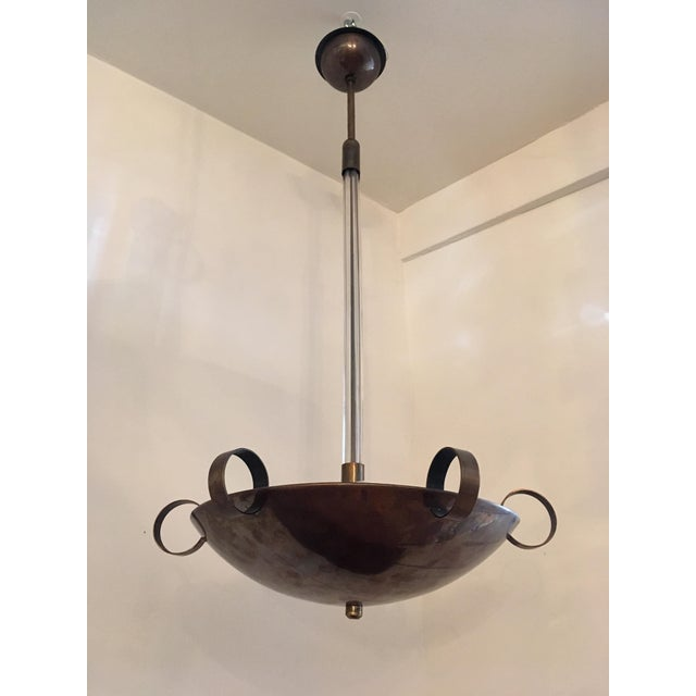 Italian 1930s Futurist Pendant Chandelier For Sale In New York - Image 6 of 13