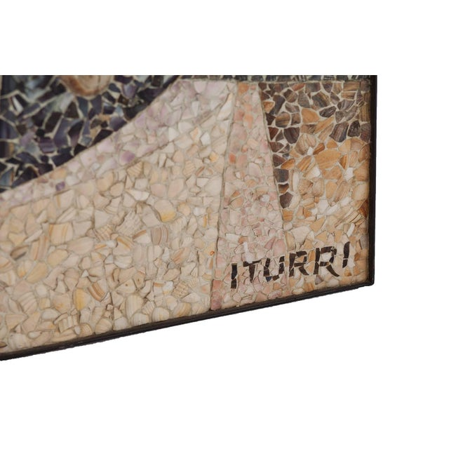 1960s Mosaïc Artwork in Shell by Manuel Iturri For Sale - Image 5 of 9