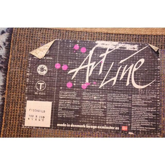Vintage Ege Scandinavian Fish Rug After Klee - 4′7″ × 6′7″ For Sale - Image 9 of 10