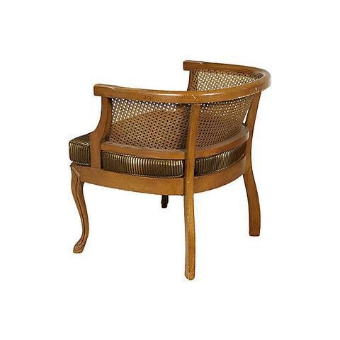 1960s Caned Barrel Chair - Image 4 of 5