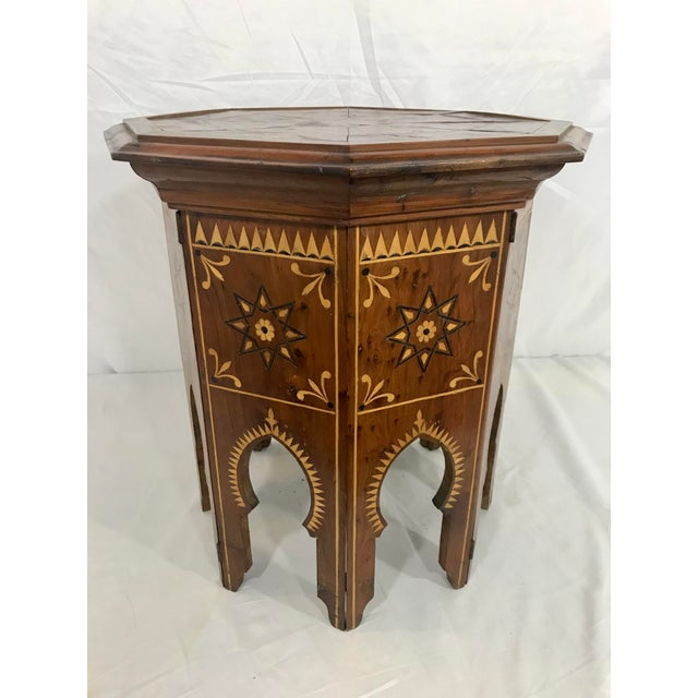 Syrian Octagonal Folding Traveling Table For Sale - Image 9 of 9
