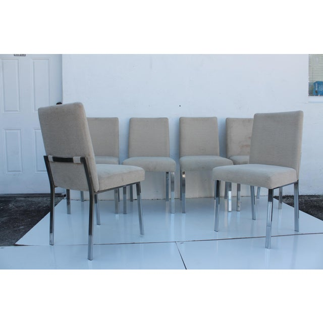 Milo Baughman Chrome Dining Chairs - Set of 6 - Image 3 of 11