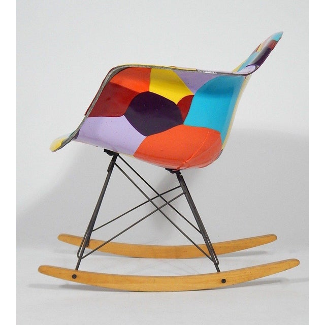 Early Eames 1950s Rocker Updated by Artist Jim Oliveira - Image 2 of 8