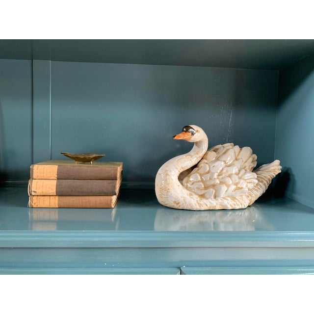 Vintage Ceramic Decorative Swan Figurines - a Pair For Sale - Image 4 of 9