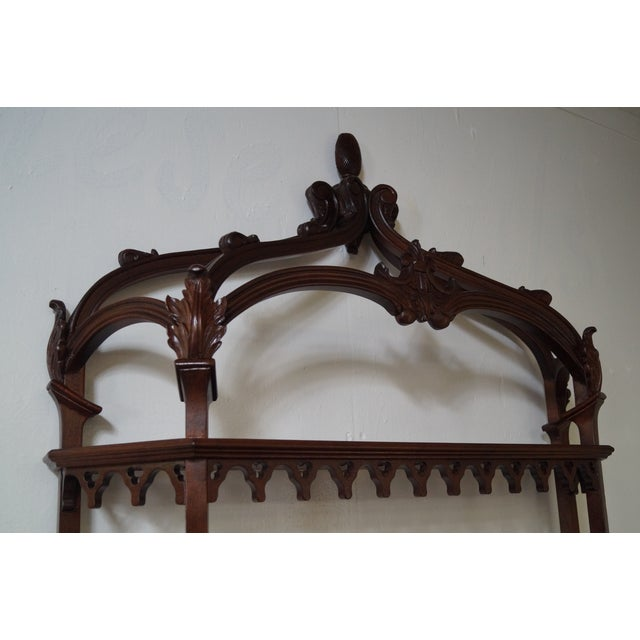 Quality Solid Mahogany French Style Hanging Shelf - Image 9 of 10