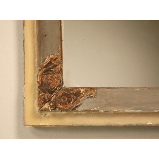 Gold Leaf Antique Diamond & Crossed Arrows French Directoire Mirror For Sale - Image 7 of 10