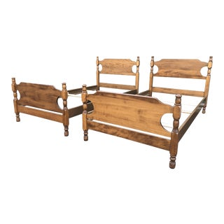 Solid Maple Moosehead Twin Beds- a Pair For Sale