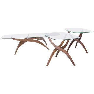 Cocktail Table and Side Tables by Forest Wilson For Sale