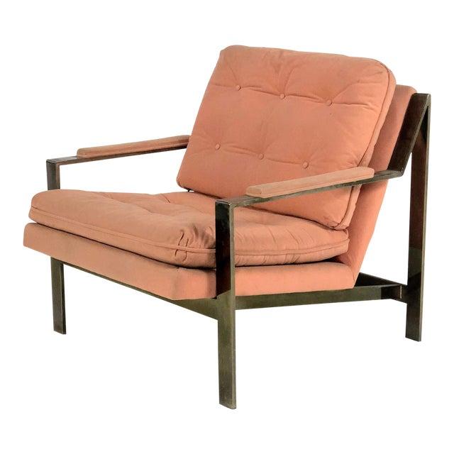 1970s Mid-Century Modern Cy Mann Peach Lounge Chair For Sale