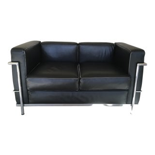 Modern Le Corbusier for Alivar Lc2 Grand Confort Petit Modele Loveseat For Sale