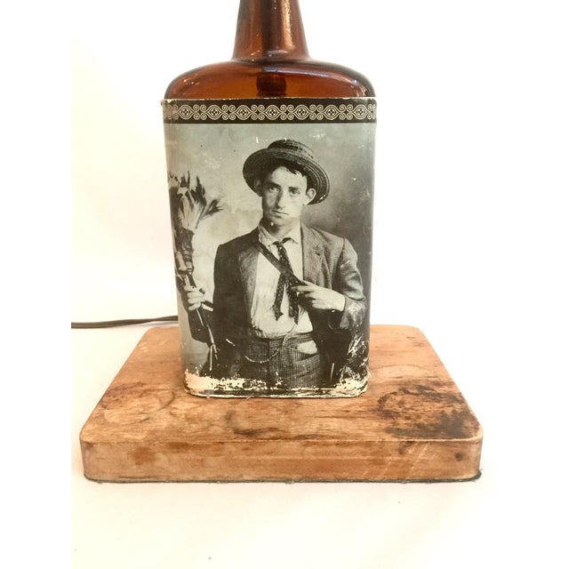 Vintage Liquor Bottle Lamp Base - Image 2 of 5