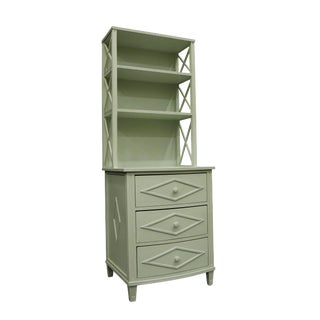 Vintage Light Mint Cupboard With Matte Finish For Sale