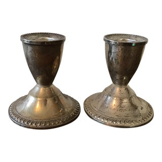 Duchin Sterling Candle Holders- A Pair