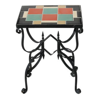 Arts & Crafts Tile Table For Sale