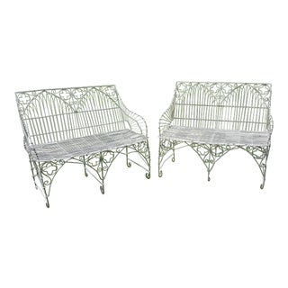 Gothic Style Wirework Seats For Sale