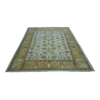Turkish Anatolian Modern & Decorative Oushak Rug - 9′3″ × 11′
