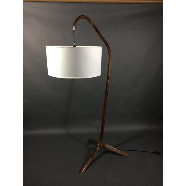 Modern Daniel Oates Steambent Floor Lamp in Walnut For Sale - Image 3 of 10
