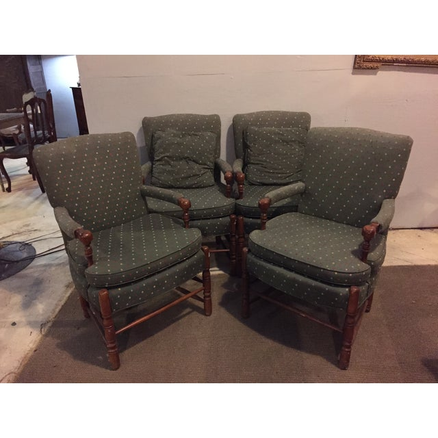 Mid-Century French Club Armchairs - Set of 4 - Image 2 of 10