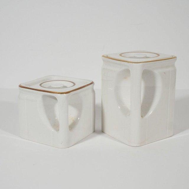 Art Deco Art Deco Streamline Porcelain Coffee & Tea Pots for the Cunard Cruise Ship Line For Sale - Image 3 of 8