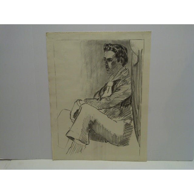 "Original Drawing Sketch Deep in Thought"" by Tom Sturges Jr., 1959 For Sale - Image 5 of 5"