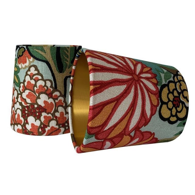 Contemporary Custom Sconce Shades- a Pair For Sale - Image 3 of 3