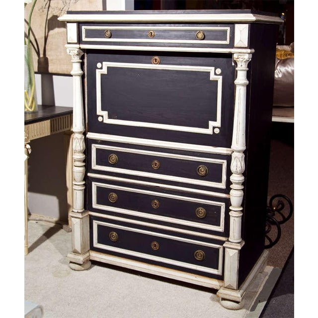 Late 19th Century Swedish Gustavian Style Secretary Drop-Front Desk For Sale - Image 5 of 10